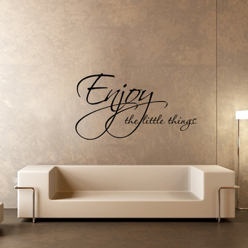 Small Enjoy The Little Things Wall Decal Quotes