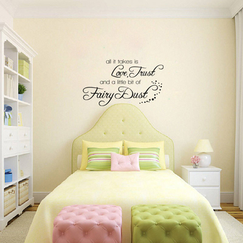 Small Love Trust And Fairy Dust Wall Decal Quotes