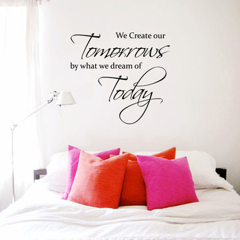 Small Dream Today Create Tomorrow Wall Decal Quotes