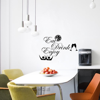 Small Eat Drink Enjoy Wall Decal Quotes