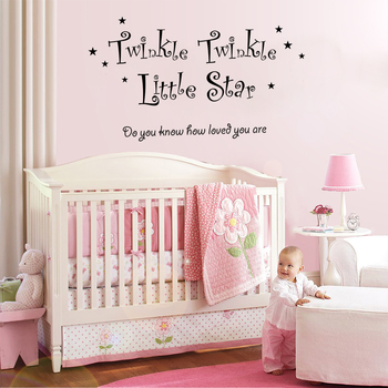 Medium Twinkle Twinkle Little Star Wall Decal Quotes