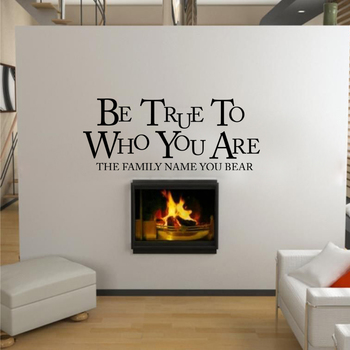 Small Be True To Who You Are Wall Decal Quotes