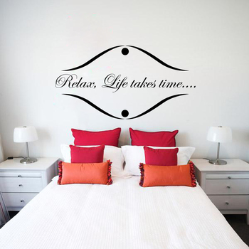 Large Life Takes Time Wall Decal Quotes