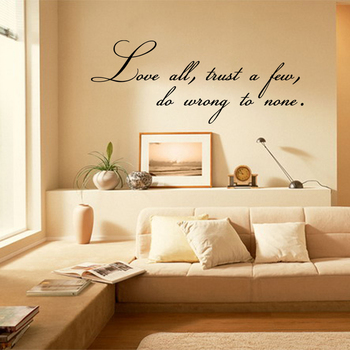 Small Love All Wall Decal Quotes