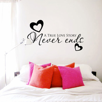 Large True Love Story Wall Decal Quotes