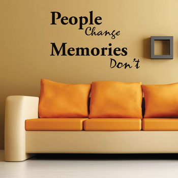 Medium Memories Don't Change Wall Decal Quotes