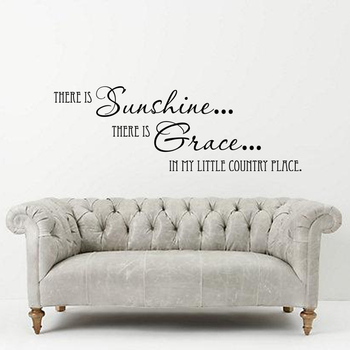 Large Sun Shine And Grace Wall Decal Quotes