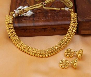 Gorgeous Gold Plated Plain Necklace Set