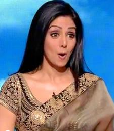 Buy Sridevi Bollywood replica saree with embroidary sridevi-saree online