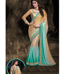 Buy Blue embroidered crepe saree with blouse crepe-saree online