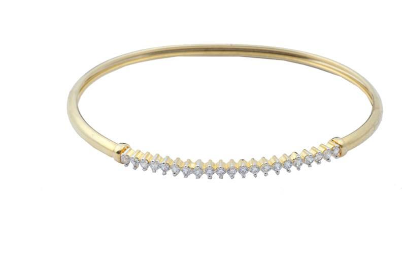 Brass cubic zirconia yellow gold bracelet casting bracelet for women
