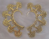 Golden Brass ear-cuffs