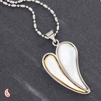 Mother of Pearl Heart Pendant