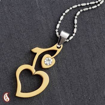 Gold Polish Cherry Heart Pendant