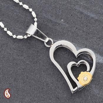 Heart 2 Heart CZ Pendant