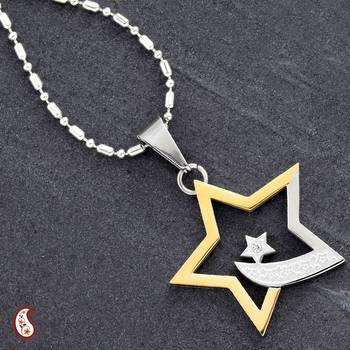 Gold Polish Star Pendant