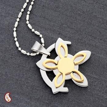 Oriental design Steel pendant