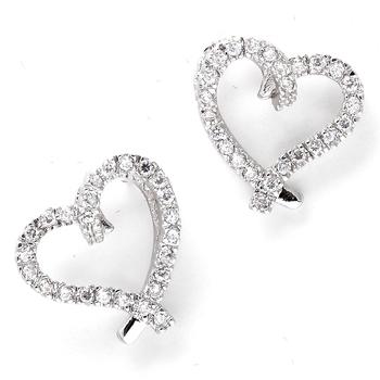 Bohemian Heart Zirconia Earrings