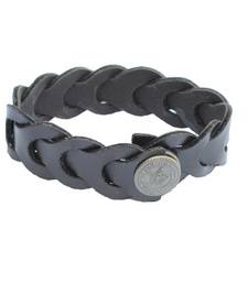 Buy Braided Rugged Darkest Brown Bracelet/Wrist Band For Men men-bracelet online