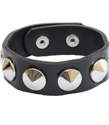 Buy Bikers Look Black Bracelet/Wrist Band For Men men-bracelet online