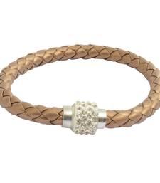 Buy Magnetic Braided & Stone Studded Golden Bracelet/Wrist Band For Men gifts-for-boyfriend online