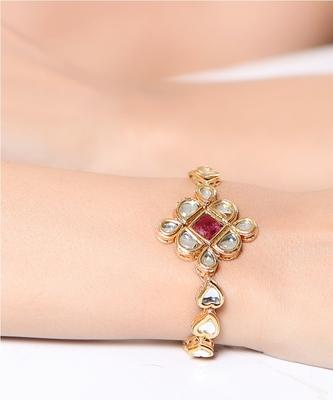 Ethnic design Kundan bracelet