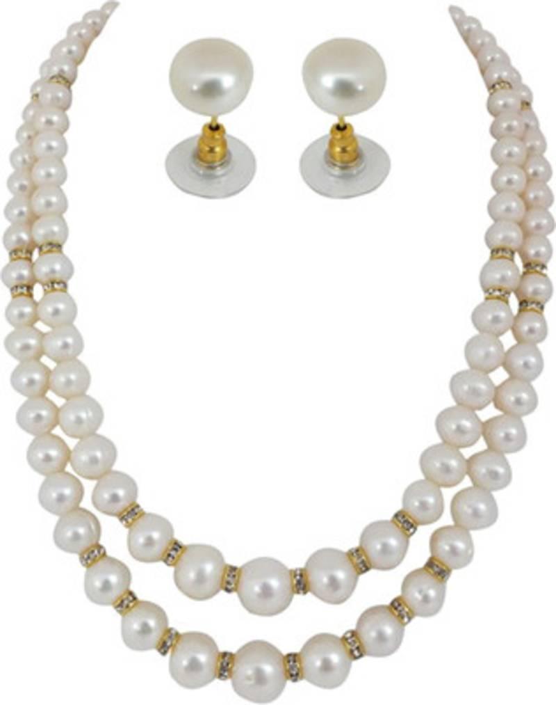 Buy Semi Precious Stone Crystal Beaded Necklace Fashion ...