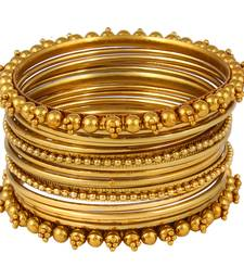 Buy Antique Metal Traditional Bangle Set bangles-and-bracelet online