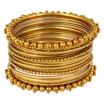 Antique Metal Traditional Bangle Set