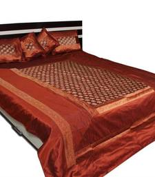 polysilk brocade bed cover
