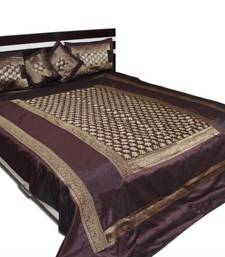 Buy polysilk brocade bed cover diwali-home-decor online