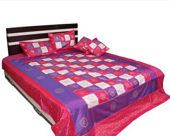Ethnic Polysilk Bed Cover