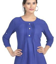 Buy Blue  bangalore silk georgette tunic tunic online