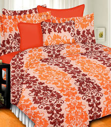 Buy High Quality Pure Cotton Floral Printed Double Bed Sheet With Pillow Covers bed-sheet online