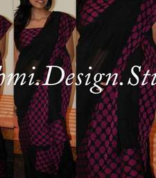 Buy black and purple georgette-saree online