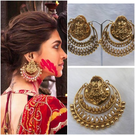 Buy Deepika S Ram Leela Chandelier White Earrings Online
