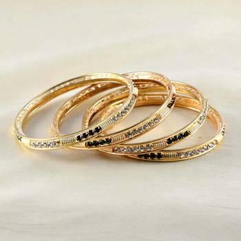 Designer Gold Platted Bangles