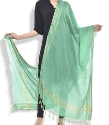 Buy Green bhagalpuri  stole and dupattas stole-and-dupatta online