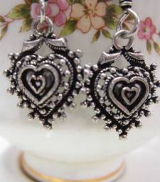 Buy Heart Earrings danglers-drop online