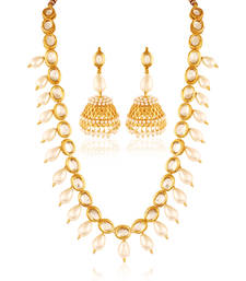 Buy Exceptional Gold plated kundan set necklace-set online