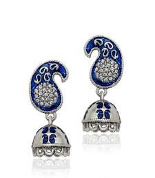 Buy Silver Crystal jhumkas jhumka online