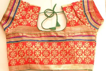 Multicolor Kutch Embroidered Cotton Traditional Blouse