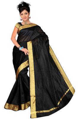 Pavecha's Banarasi Black Patta Saree MK676