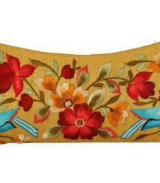 Buy Yellow cotton silk fashion thread work clutches women-accessory online