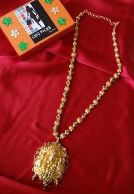 Laxmi Bold Pendant with Designer Chain