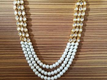 Kundan And Pearl Raani Haar Necklace