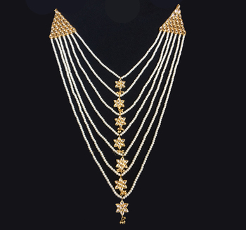 Kundan And Pearls Elegant Satlada Raani Haar Necklace