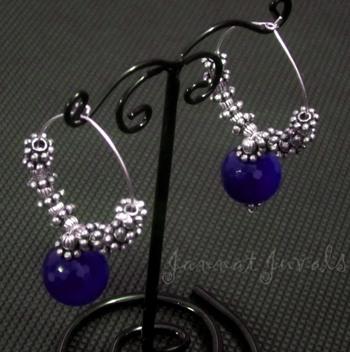 Trendy Blue Onyx Rings