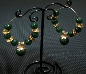 Traditional Green & Golden Rings