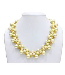 Buy Pearl gold rhapsody necklace party-jewellery online